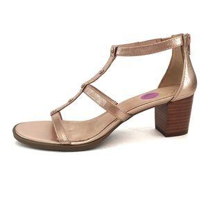 1a3fa72c9a Jack Rogers Shoes - NWOT Jack Rogers JULIA Rose Gold Block Heel Sandal